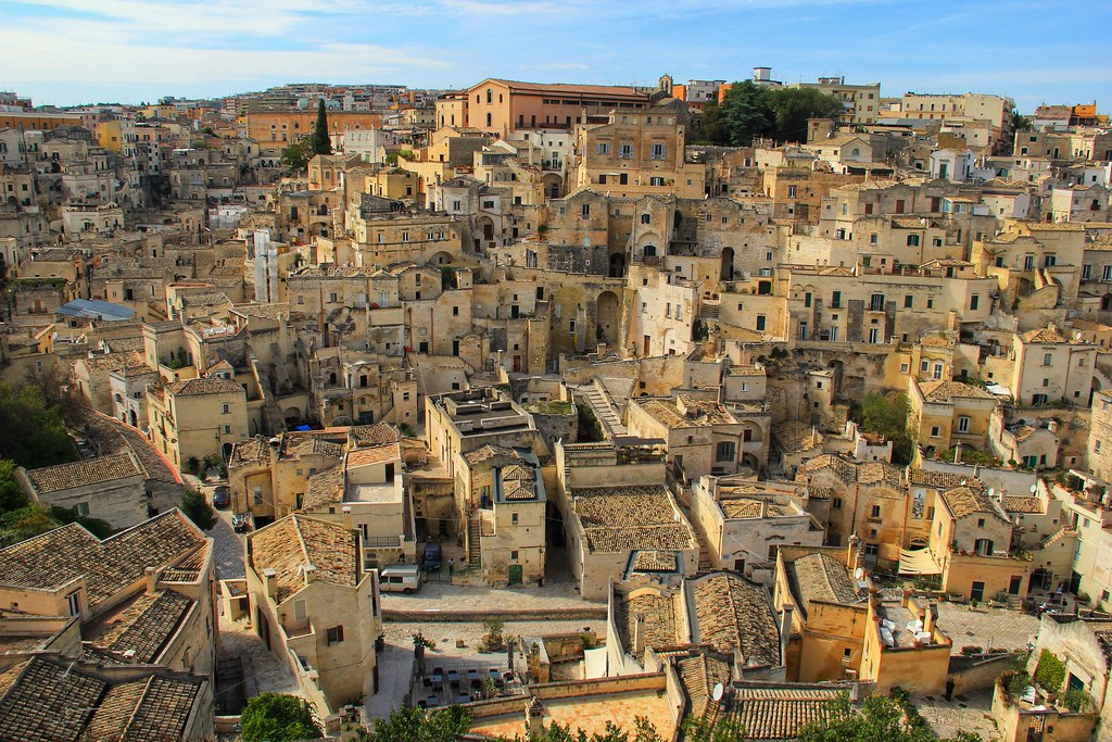 Matera viewed from the terrace next to Matera Cathedral
