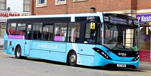YX17 NND 'ARRIVA The Shires' No. 3129. Alexander Dennis Ltd. (ADL) E20D / 'ADL' Enviro 200MMC on Dennis Basford's railsroadsrunways.blogspot.co.uk'