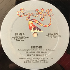 GRANDMASTER FLASH AND THE FURIOUS 5:FREEDOM(LABEL SIDE-A)