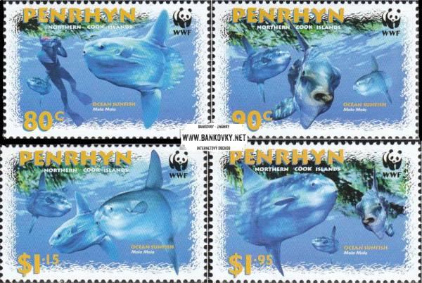 Známky Penrhyn 2003 Veľké morské ryby