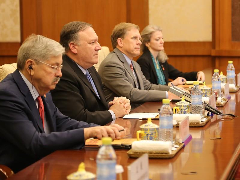 Secretary Pompeo Meets With Politburo Member Yang Jiechi in Beijing