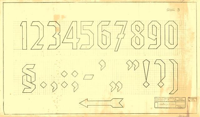 Reichsbahn Deutsche Schrift, Blatt 3