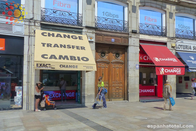 trocar euros em Madri