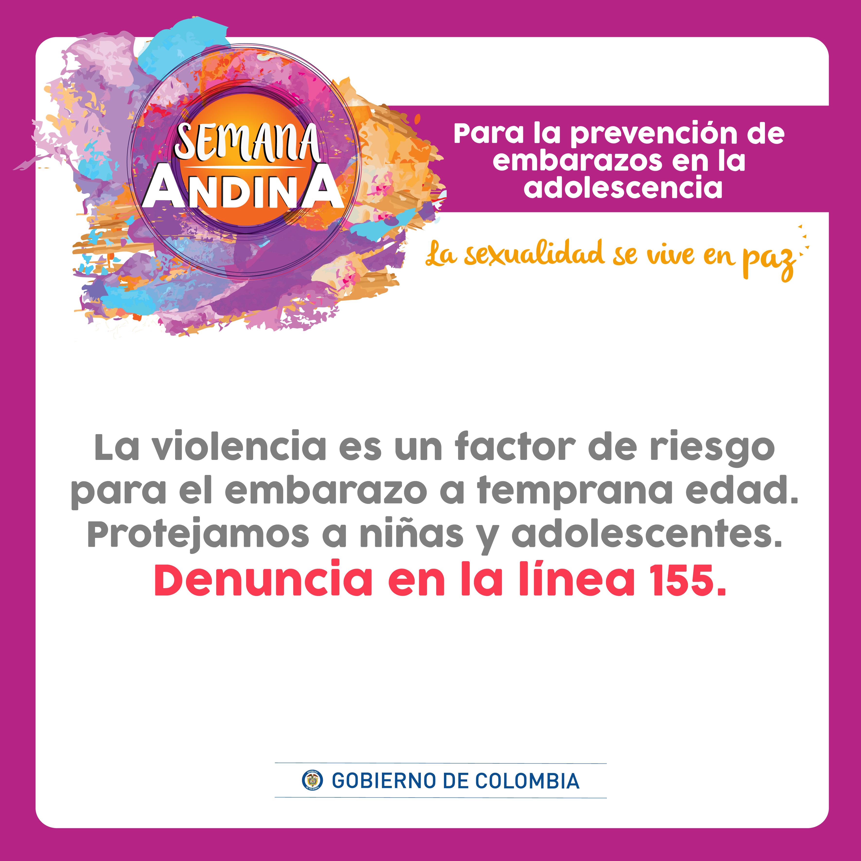 Celebración de la Semana Andina de Prevención del Embarazo en Adolescente 2018