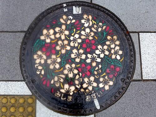 Mishima Shizuoka, manhole cover (静岡県三島市のマンホール)