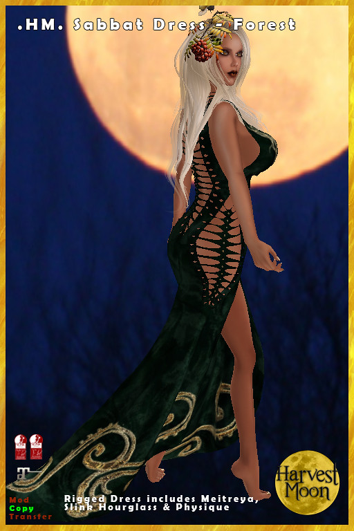 Harvest Moon – Sabbat Dress – Forest