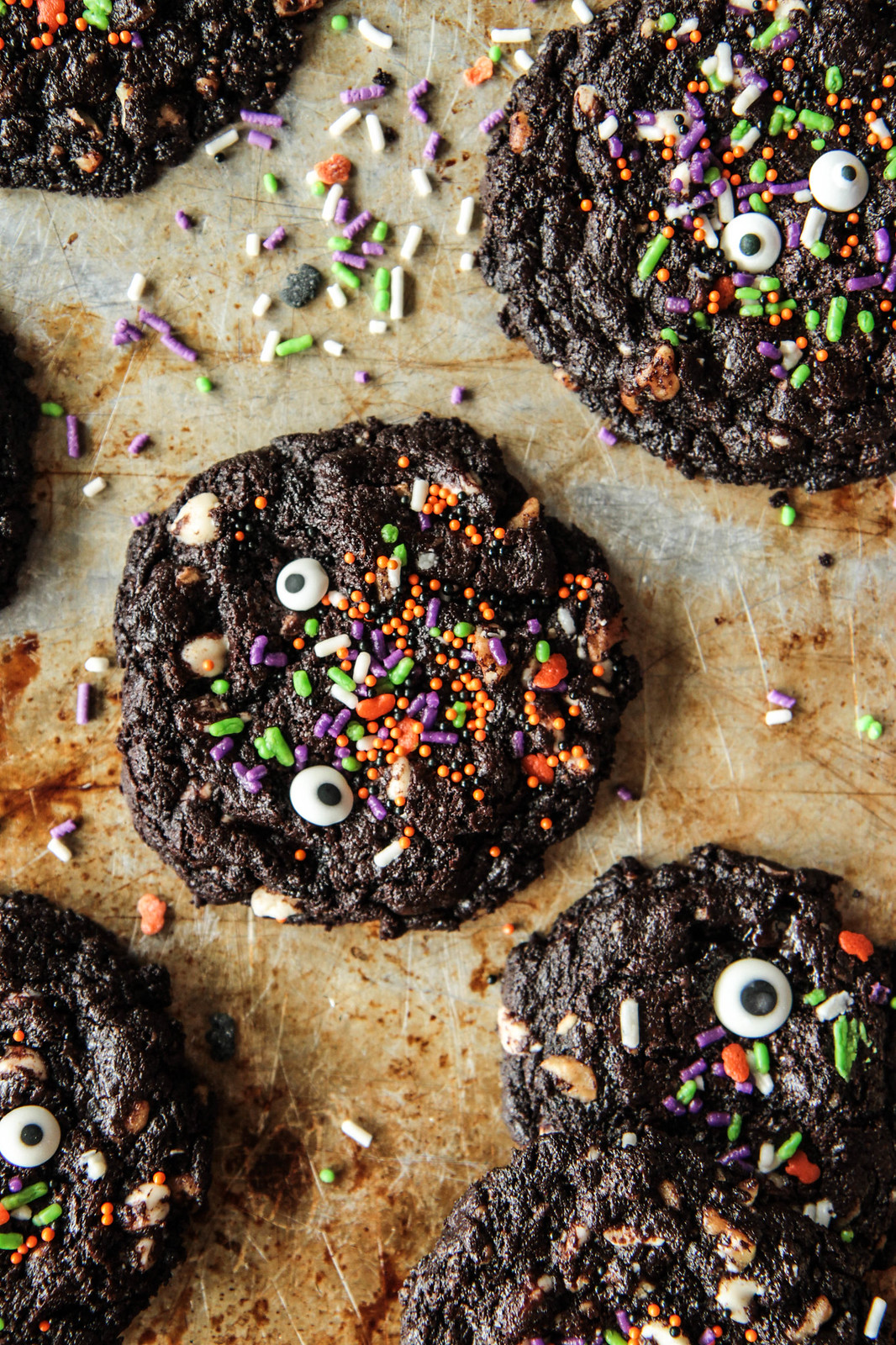 Flourless Chocolate Walnut Monster Cookies- gluten-free and vegan from Heather Christo