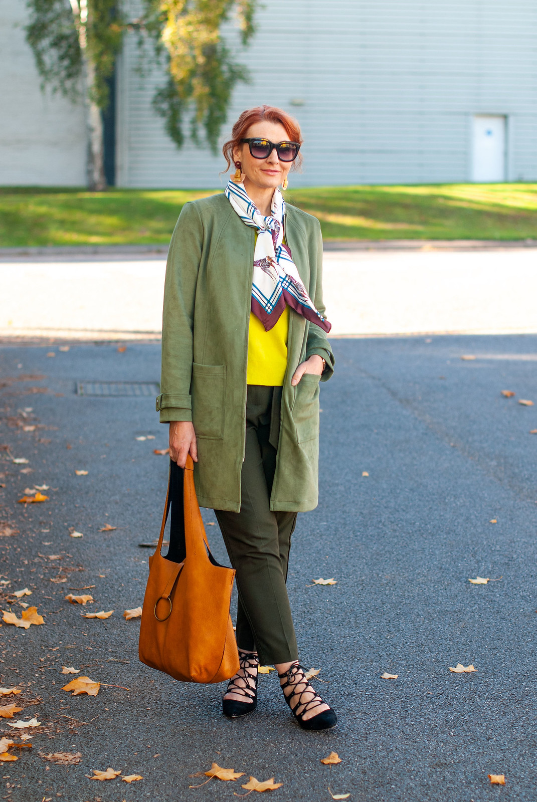 Styling Warm Shades of Green With a Giraffe Print | Not DRessed As Lamb, over 40 fashion