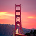 San Francisco Sunset Colors by davidyuweb