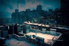 WInter Rooftop World . . . . #rooftopsundays #rooftops #winter #snow #roofscape #chinatownnyc #chinatown #bleak #lowermanhattan #downtownmanhattan #newyorkcity #chrislord #chrislorddotnyc #pixielatedpixels #nycphotographer #newyorkcityphotography #snowsca