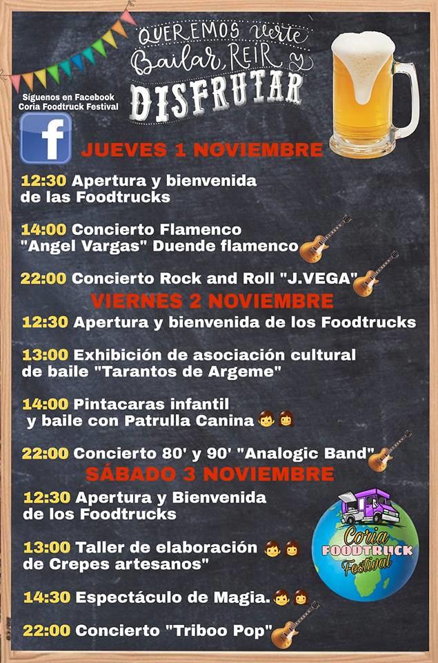 El Puente de Todos los Santos se vive en Coria con el II Festival Gastronómico sobre ruedas (FoodTruck)
