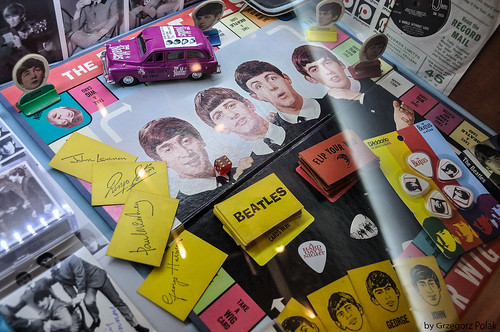 The Beatles in an old board game