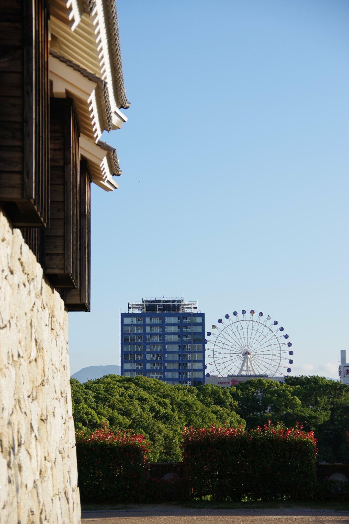 Matsuyama castle and kururin
