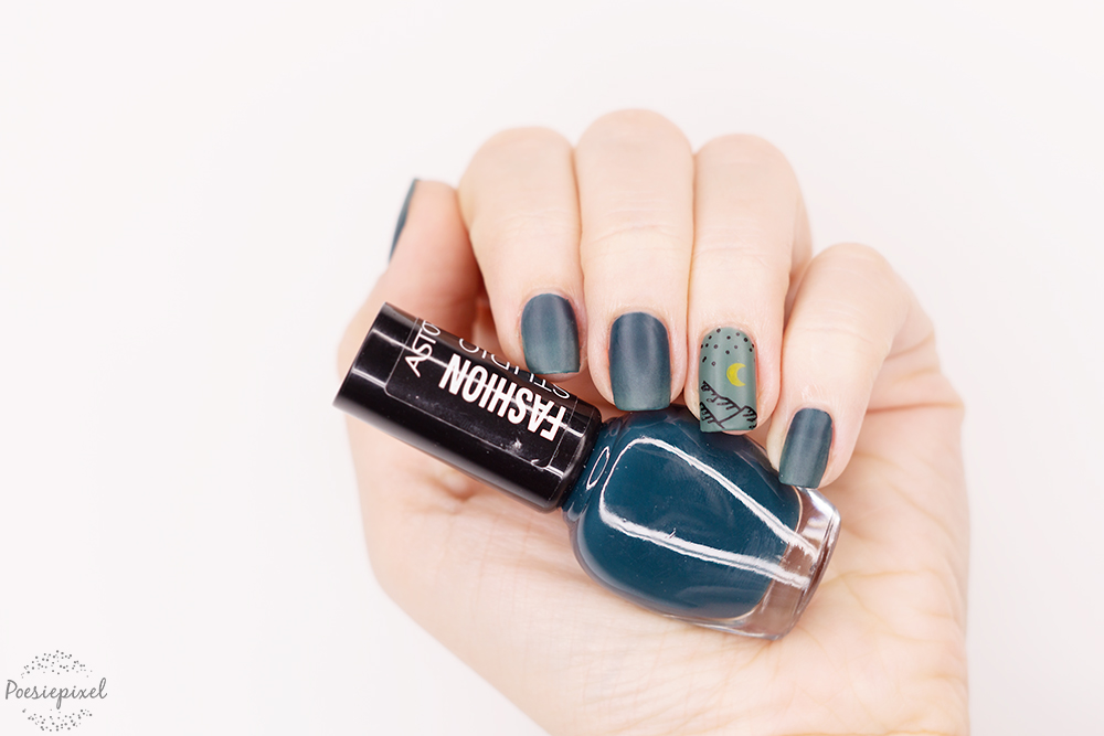 Nailart: Nightsky Mountains