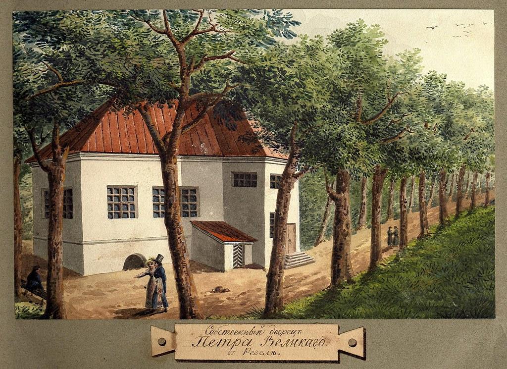Вид дворца Петра Великого в Ревеле
