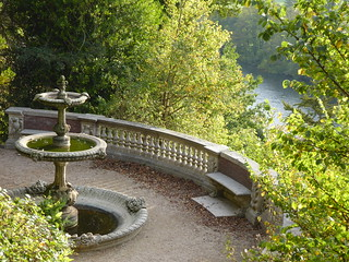 Tortoise Fountain & River Thames, Cliveden, Buckinghamshire