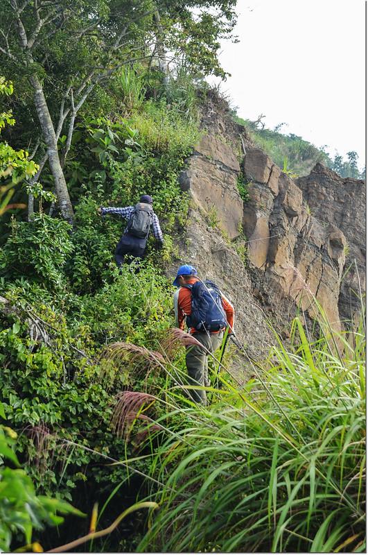 小林山登山步道大坍方危瘦稜地形 5
