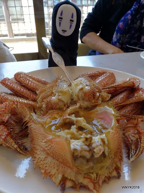Kaonashi and Hairy Crab