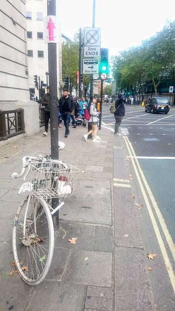 B Way at S Row + ghost bike