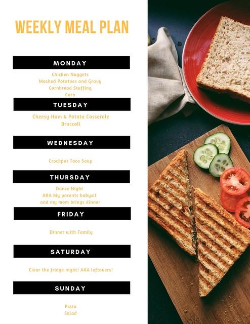Weekly Mean Plan Ideas