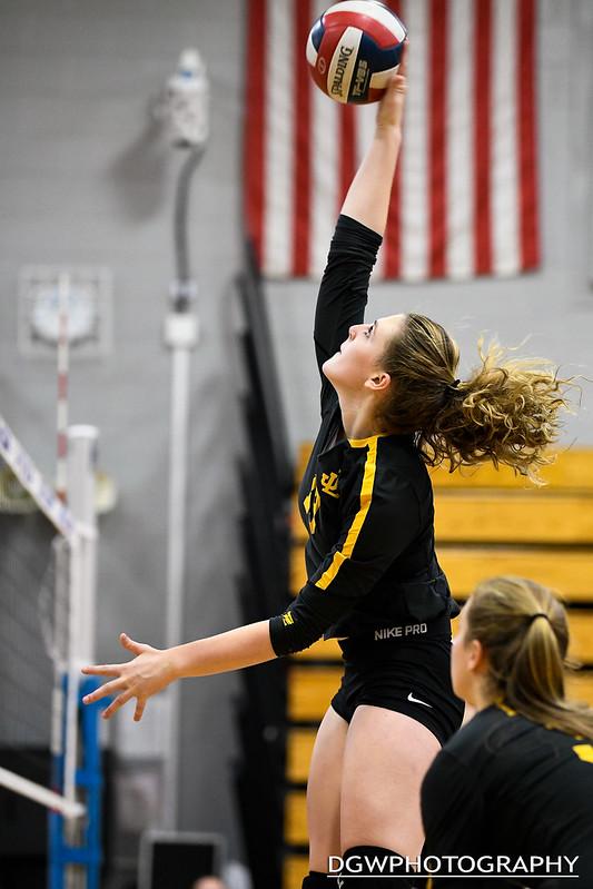 Jonathan Law vs. Weston high - Girls Volleyball