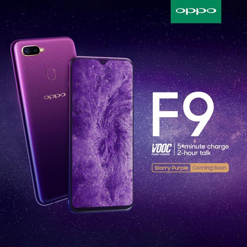 OPPO F9 Starry Purple is arriving