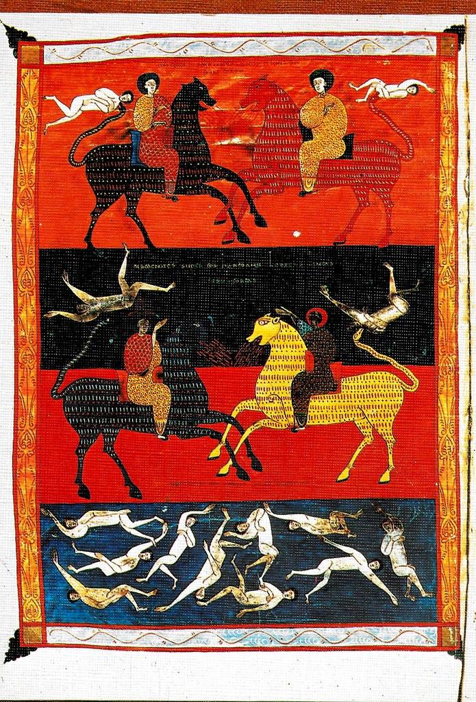 Los caballos con cabezas de leones. Exterminio de la tercera parte de los hombres. Ap. IX, 17-19