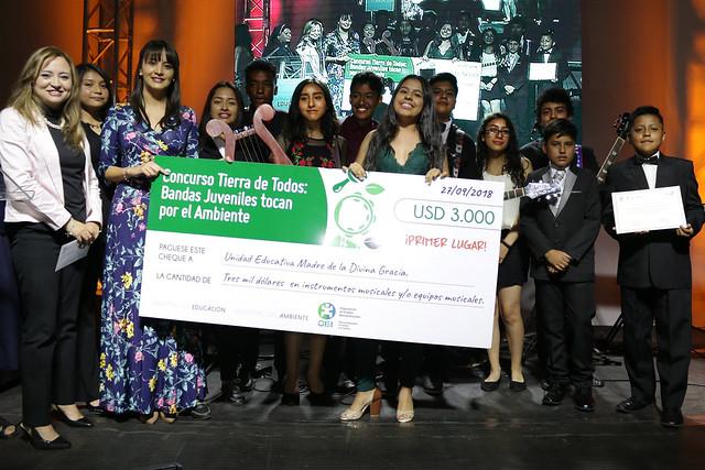 """Premiación del Concurso Tierra de Todos """"Bandas Juveniles Tocan por el Ambiente"""""""