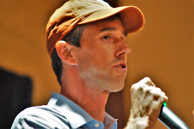 U.S.Congressman Beto O'Rourke(D-El Paso) speaking at a get out the vote rally at the AT&T Conference Center at The University of Texas in Austin,Texas on10/04/2018.