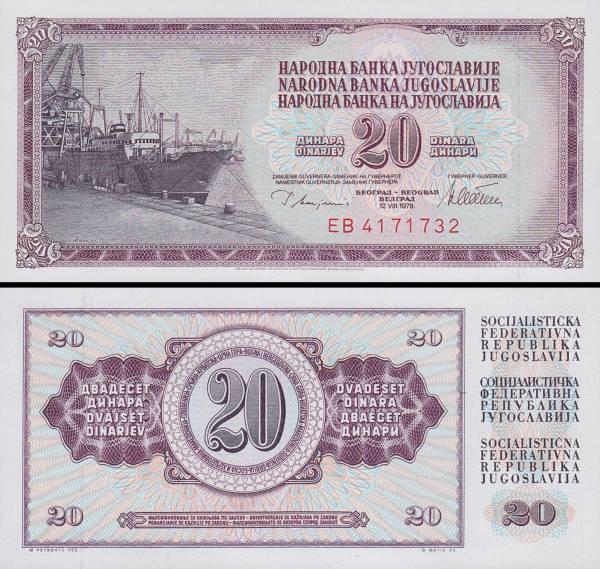 20 Dinárov Juhoslávia 1978, P88a