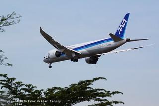 All Nippon Airways Boeing 787-9 Dreamliner; Near CGK 2018
