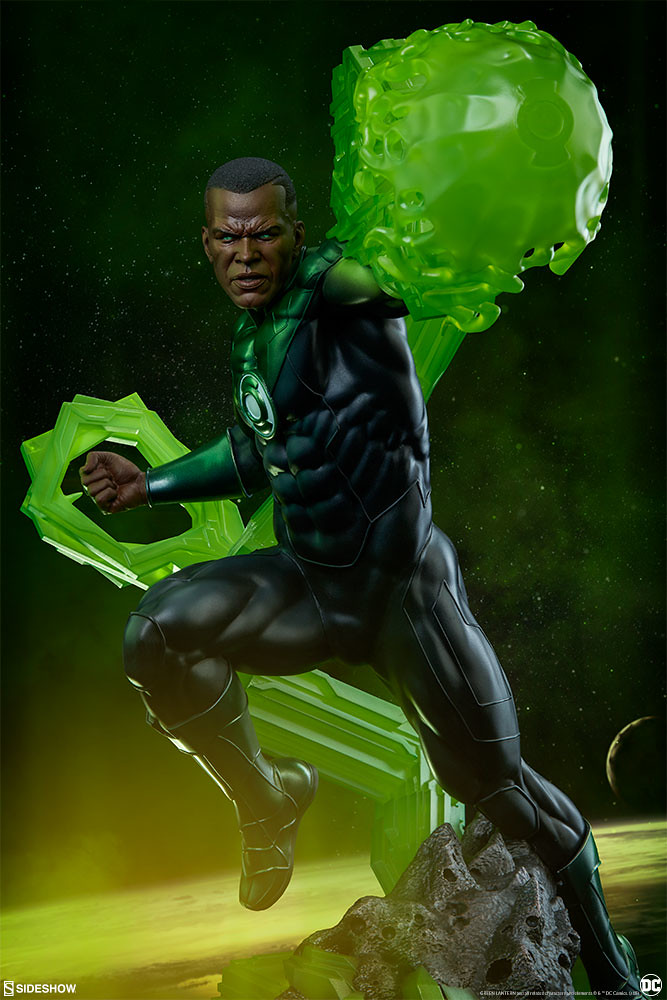 Sideshow Collectibles Premium Format Figure DC Comics【綠光戰警 約翰·史都華】Green Lantern John Stewart 1/4 比例全身雕像作品