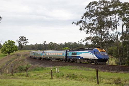 NSW Trainlink XPT NT32 bypasses Eungai Rail onroute to Sydney.