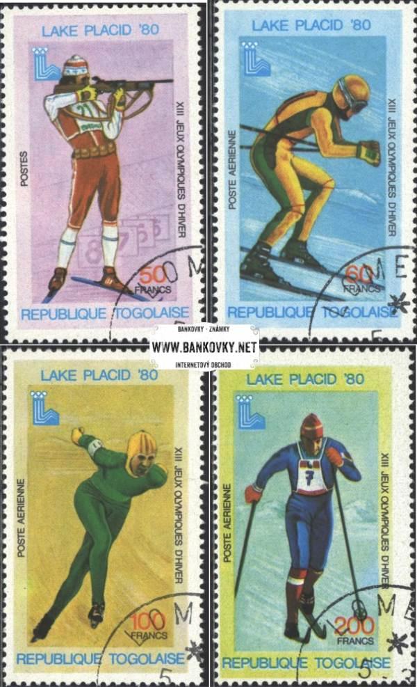 Známky Togo 1980 OH Lake Placid, razítkovaná séria
