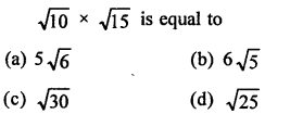 RD Sharma Class 9 Chapter 3 Rationalisation MCQS