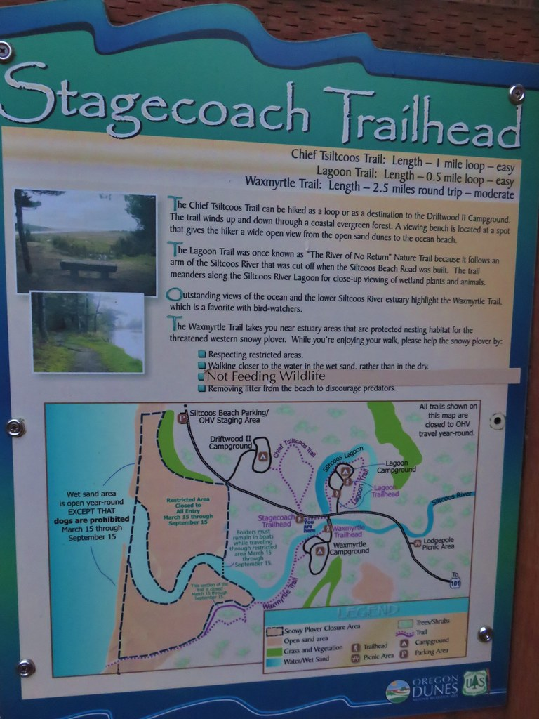 Map at the Stagecoach Trailhead