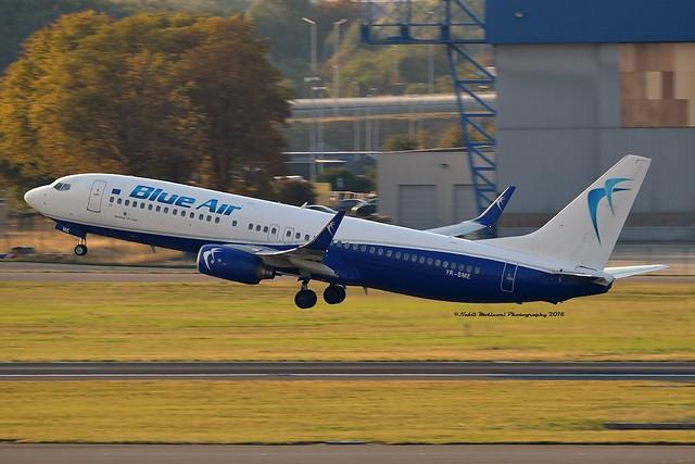 Blue Air YR-BME Boeing 737-86N Winglets cn/34251-1817 @ EBBR / BRU 17-08-2018