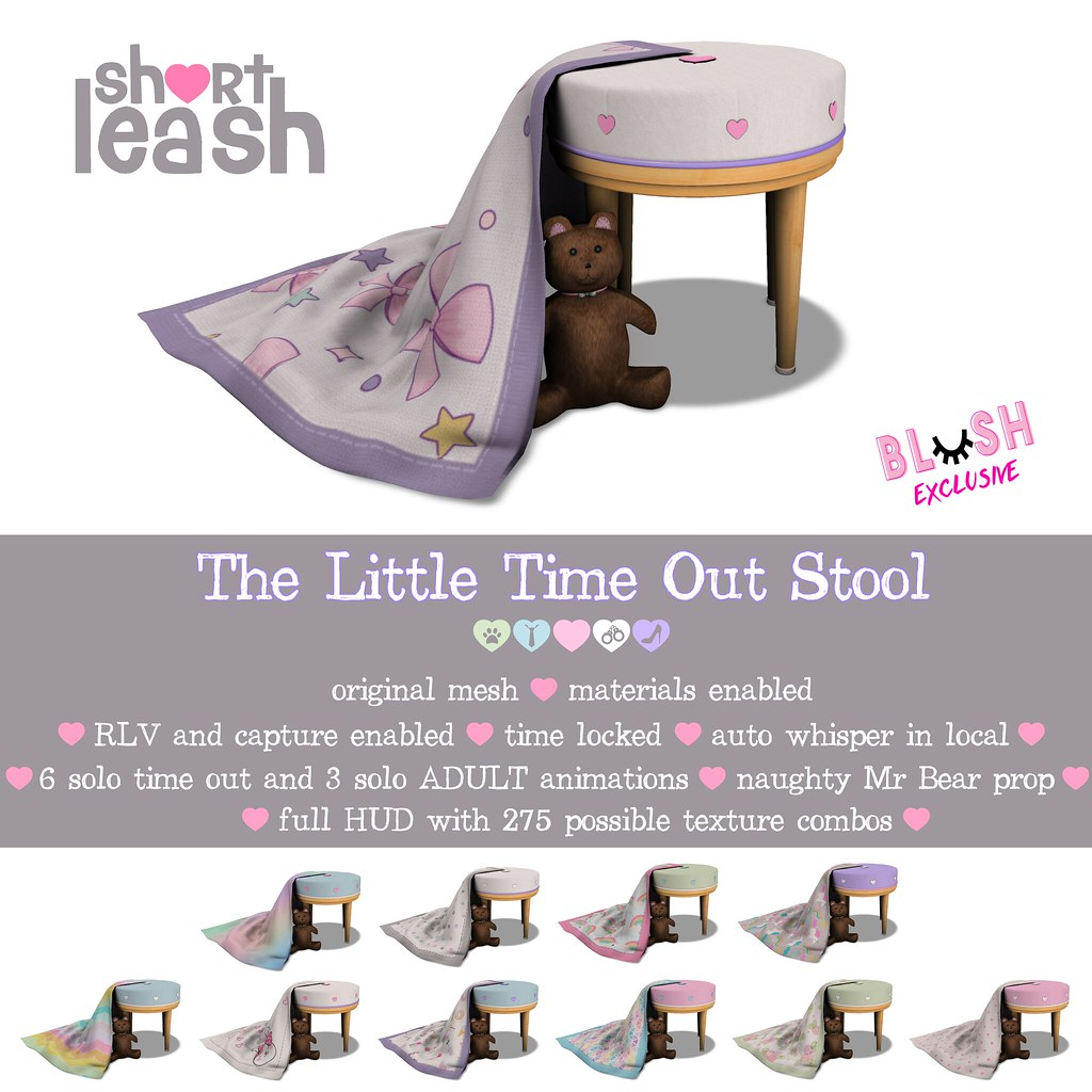 .:Short Leash:. The Little Time-Out Stool @ Blush! - TeleportHub.com Live!