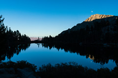 1810 Rising Moon and Setting Sun on the Kearsarge Pass Trail