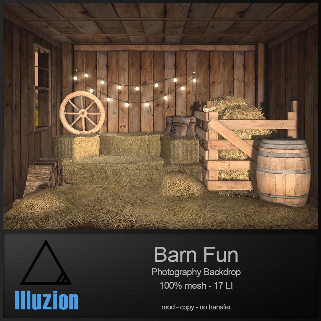Illuzion – Barn Fun Backdrop @ Pose Fair