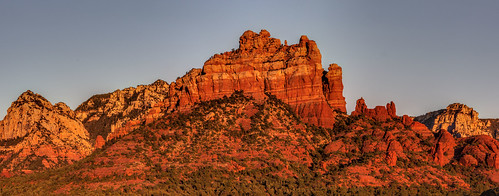 usa arizona sedona mountains sunrise panorama hdr