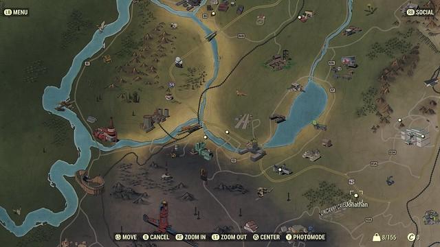 Fallout76 ワールドマップ