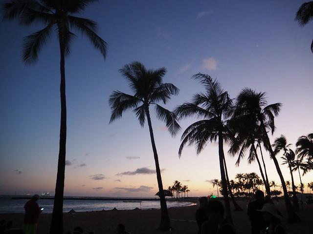 P7078953 ヒルトンハワイアンビレッジ 花火 ハワイ hawaii ひめごと