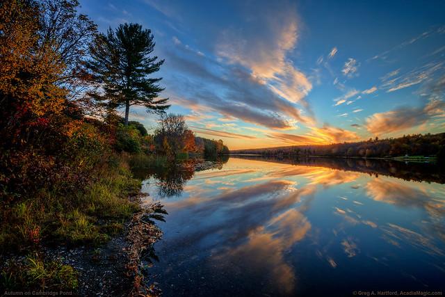 Sunset at Cambridge Pond