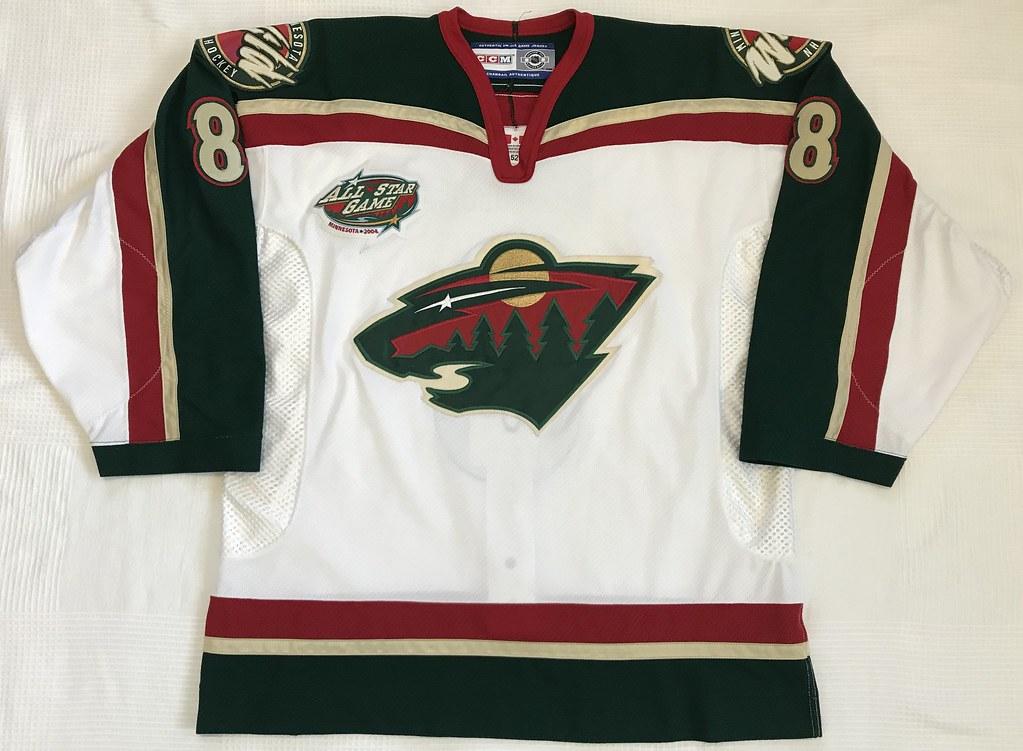 2003-04 Brent Burns Minnesota Wild Home Rookie Jersey Front