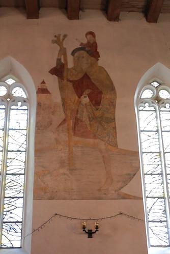 Wansleben am See, Kirche St. Andreas und Stephani, Fresko aus der Entstehungszeit (1509)