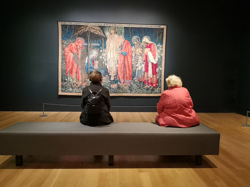Admiring the art