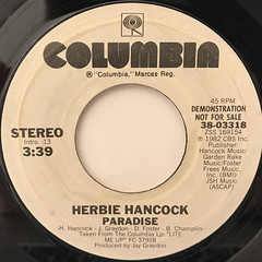 HERBIE HANCOCK:PARADISE(LABEL SIDE-B)