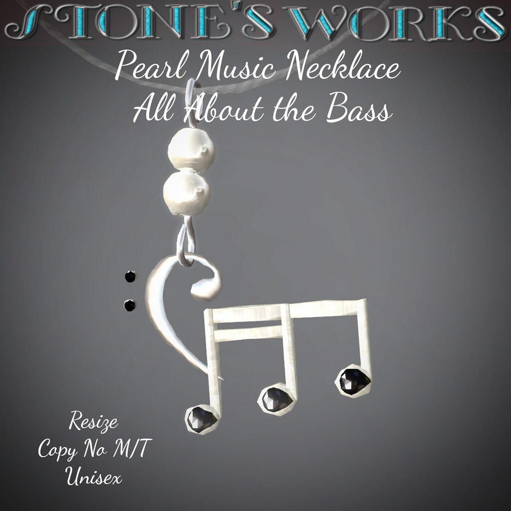 Pearl Music Necklace Bass Stone's Works - TeleportHub.com Live!