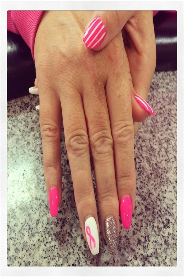 #breast_cancer_nails #nail_art_design_ideas #breast_cancer 20+ Best Breast Cancer Nail Art Ideas